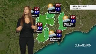 Previsão Grande São Paulo - Volta a esquentar