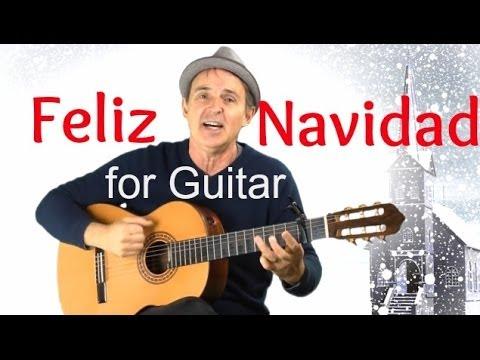 Feliz Navidad for Guitar | Fun Song With Easy Guitar Chords & Capo ...