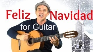 Feliz Navidad for Guitar | Fun Song With Easy Guitar Chords & Capo