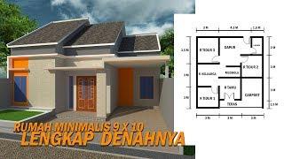 Desain Rumah Minimalis - Ukuran 9 X 10 Lengkap Dengan Denahnya