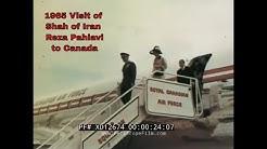 SHAH OF IRAN / PERSIA REZA PAHLAVI  STATE VISIT TO CANADA 1965  (in Farsi) XD12674