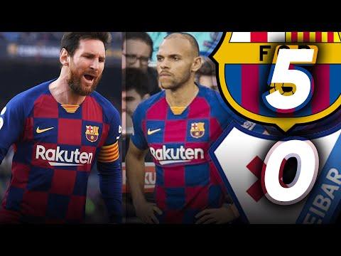 MESSI SCORES FOUR! BRAITHWAITE IMPRESSES! Barcelona vs Eibar (5-0) Match Review – La Liga 2020