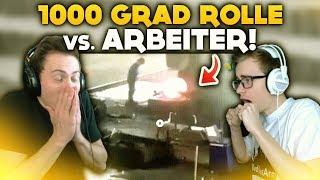 1000 GRAD GLÜHENDE ROLLE vs ARBEITER! 🔥 | WTF Videos