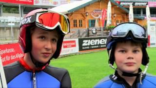 Wie wird man skispringer? die kinder beim skiclub oberstdorf zeigen es. und träumen natürlich von den ganz großen zielen: vierschanzentournee heim-weltme...