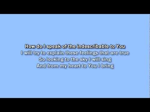 Kutless - All the Words karaoke