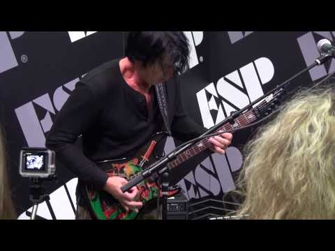 George Lynch Demo at ESP booth at NAMM 2017~PART 1