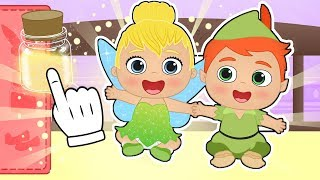 👶 BABY ALEX AND LILY 👶 Dressing up as Tinker Fairy and Peter Pan | Educational Cartoons