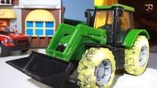 Мультик про машинки. Трактор, эвакуатор, черный день.  МанкиМульт