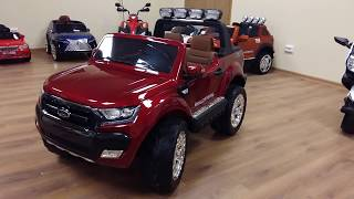 видео Детский электромобиль Ford Ranger 2016 NEW с задним приводом