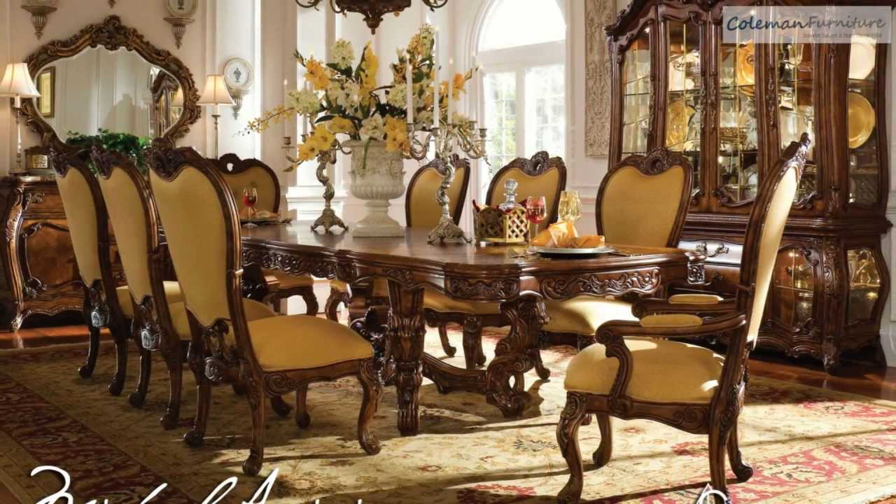 Palais royale dining room collection from aico furniture for Dining room tables you tube