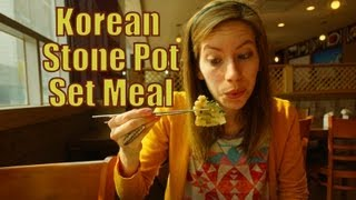 Eating A Korean Stone Pot Set Meal (hanjeongsik 한정식 韓定食) On Valentine's Day In Korea