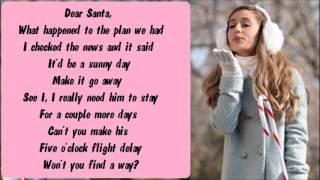 Repeat youtube video Ariana Grande - Snow In California Karaoke / Instrumental with lyrics on screen