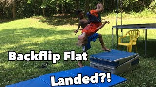 teaching a 7 year old a backflip