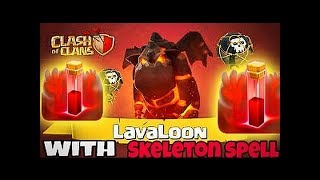 TH9 QUAD LavaLoon | LaLoon Attack Guide with Skeleton Spell | lavaloon Event Clash of Clans