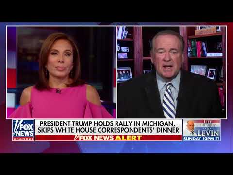 "Mike Huckabee . on ""Justice,"" Mike Huckabee slammed the White House Correspondents' Dinner."