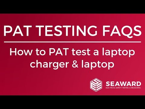 How To PAT Test A Laptop Charger & Laptop - Seaward