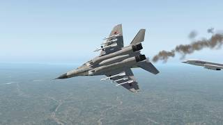 Jet Fighter Aircrafts Mig.29 Fly Dangerously Close The Concorde On The Sky | X-Plane 11