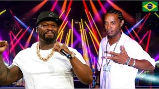 50 Cent with Ronaldinho at Rio de Janeiro show