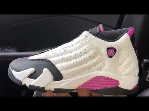 reputable site b5d77 b9bb3 Air Jordan 14 Fuchsia Blast sneaker
