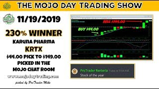 $KRTX 230% Winner 🙀 The MOJO Day Trading Show
