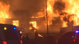 Fire destroyed  apartments under construction in Phoenix under construction