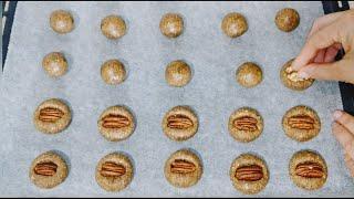 3 ingredientes y en 10 minutos ya están preparadas estas galletas de nueces   Sin harina Sin azúcar