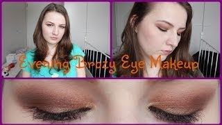 Evening Bronze Eye Makeup Tutorial Using Sleek Eyeshadows Thumbnail