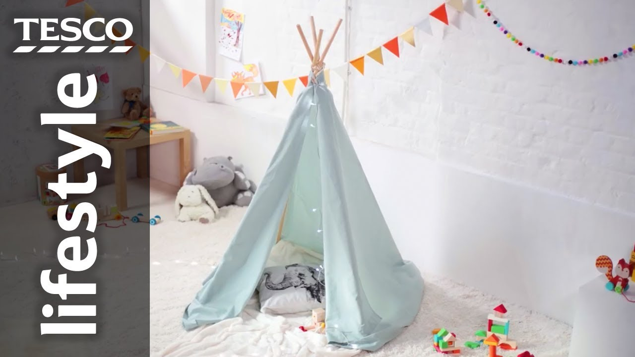 How to make an indoor teepee for kids | Tesco - YouTube