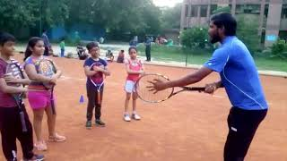 Basic tennis forehand learning for beginners 🎾