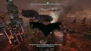 Batman: Arkham Knight - Return to Stagg Airships: Batman Glides Over Fear Toxined Gothem City PS4