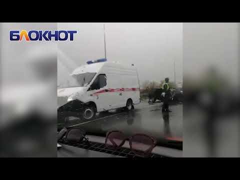 Две машины превратились в груду металла после ДТП на трассе Цимлянск Волгодонск