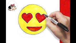 تعليم الرسم للاطفال | كيف ترسم ايموشن الفيسبوك  - القلب facebook emoji
