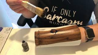 How to do wood grain and knots