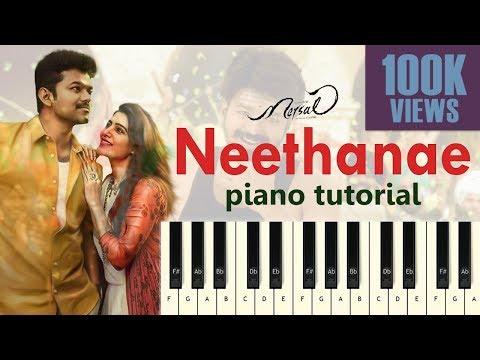 Neethanae | Piano Tutorial | Mersal