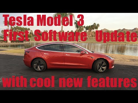 Tesla Model 3 First Software Update with Cool Features