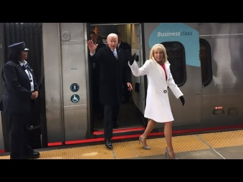 Joe Biden takes the Amtrak home