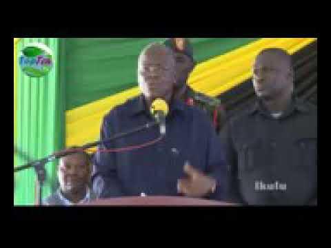 Tanzanian President explaining about Tanzanian's economy!