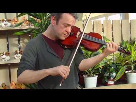 Paul Bradley plays new violin made for U.S client March 2014