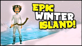 Ylands - WINTER BIOME ISLAND! Polar Bear, Penguin, & A GIANT? Crazy Blizzard Storm - Ylands Gameplay