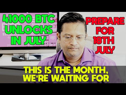 ⚠️WARNING UPDATE 18th July⚠️. 41,000 BTC will Unlock in July - GRAYSCALE - corrections ahead.