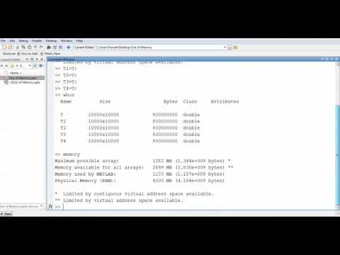 Out of Memory? Problem Possible solutions in MATLAB: Lecture-4 - YouTube