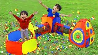 마슈랑 소풍가요~으악 악어다!! 마슈의 마법 텐트 장난감 놀이 Mashu Pretend Play with Playhouse Tent Toy- 마슈토이 Mashu ToysReview