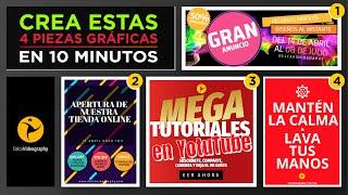 🖼 Cómo crear 4 PIEZAS PUBLICITARIAS en 10 MINUTOS TUTORIAL | DelcaVideography