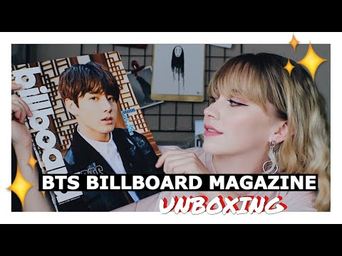 BTS Billboard Magazine Unboxing + Article Reading lol