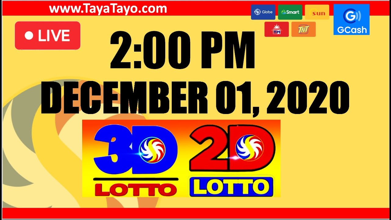 2PM PCSO LOTTO RESULTS TODAY for 3D/2D DEC 01, 2020