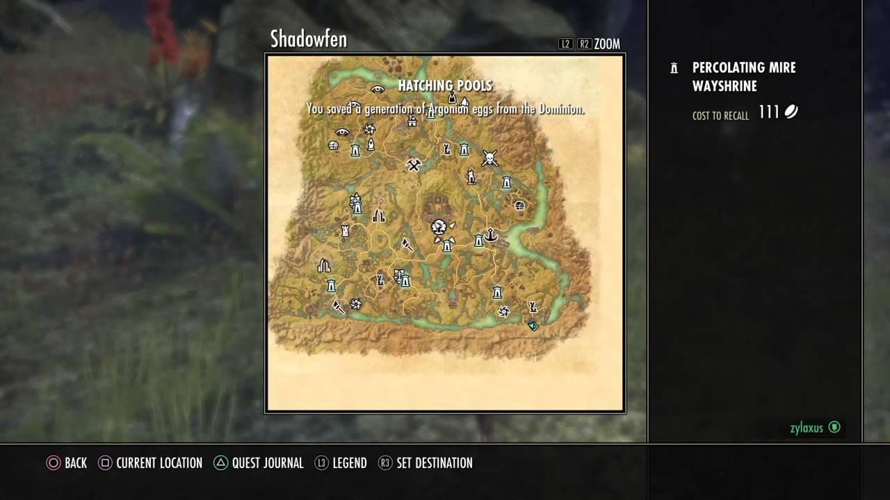 The Elder Scrolls Online: Blacksmith survey shadowfen ...