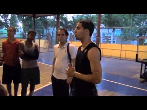 Roman Perez Giving Basketball Clinic to Kids in the Dominican Republic 2013