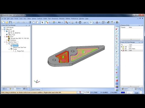 2D Surface Milling - BobCAD-CAM Quick Tip