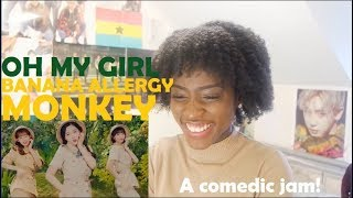 OH MY GIRL BANHANA (오마이걸 반하나) - BANANA ALLERGY MONKEY MV REACTION - Stafaband