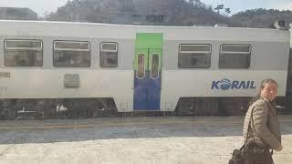 코레일 경원선 동두천행 통근열차 연천역 출발